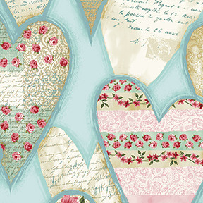 13912 Lovesong Hearts Blue $25.60 per mt