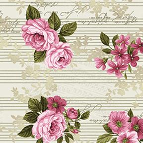 13880 Lovesong Roses Cream $25.60 per mt