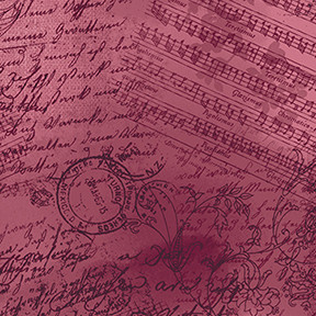 13882 Lovesong Sheet Music Burgundy $25.60 per mt