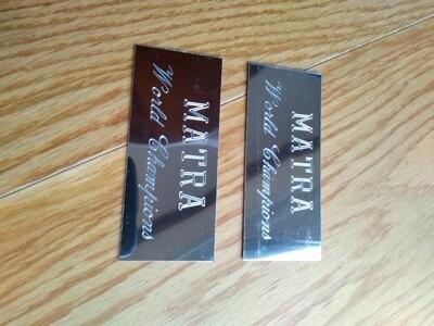 Matra World Champions Matra Silver (Pair)