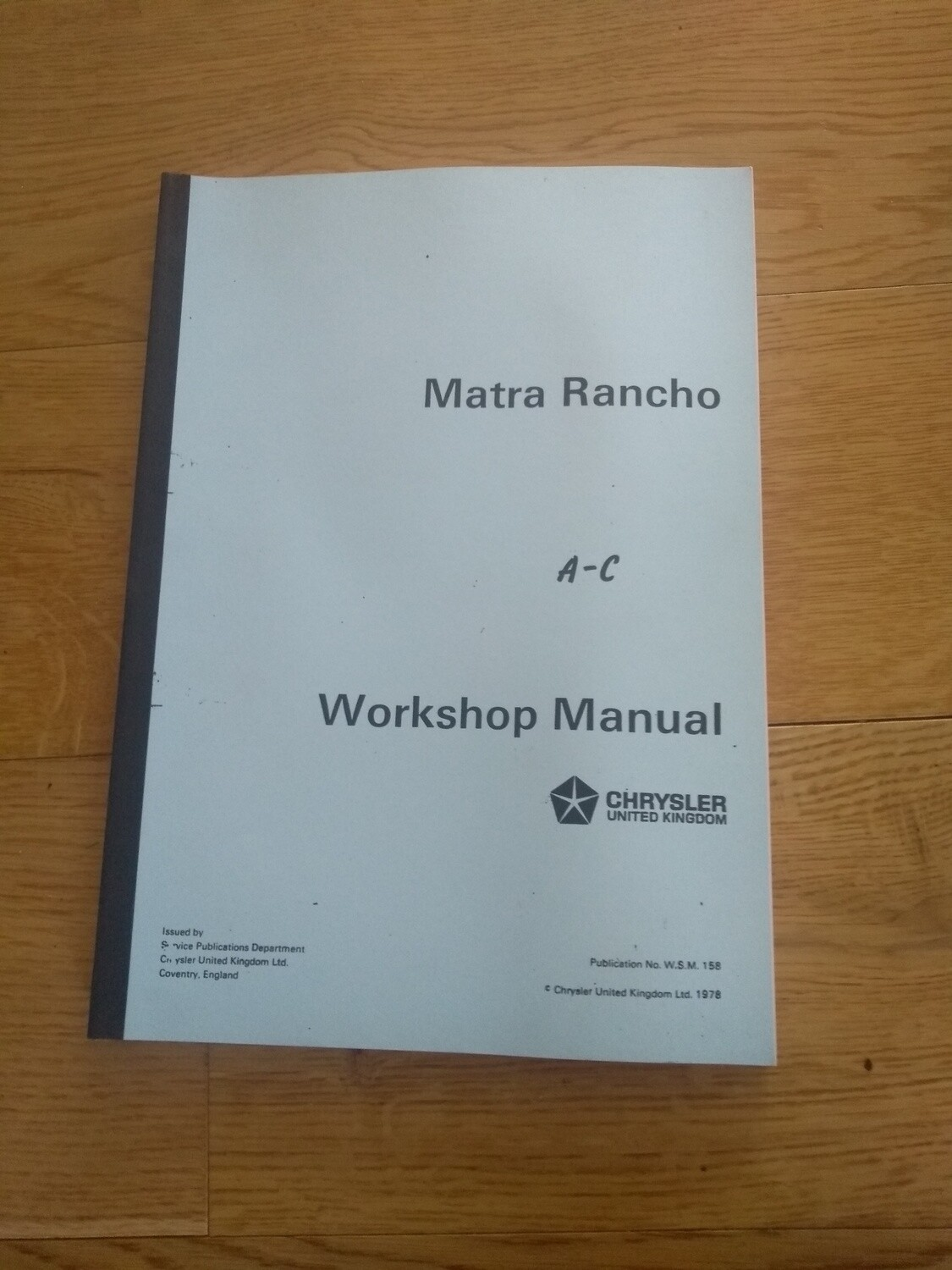 Workshop Manual Rancho Spiral Bound A4