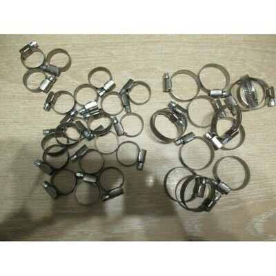 Set of 34 Stainless Steel Clips for Cooling System Hoses T-16