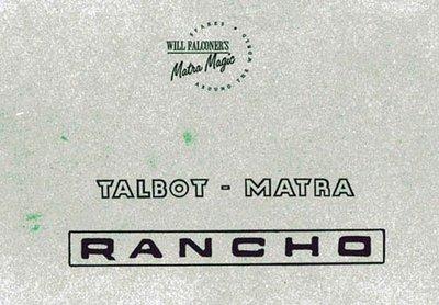 Parts Manual Rancho