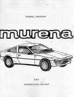 Murena Driver's Manual English Translation
