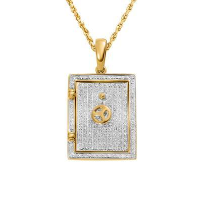 Solid Gold Vault Pendant