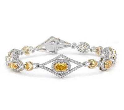 Queen Canary Diamond Bracelet
