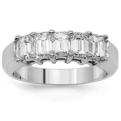 Five Emerald Cut Diamond Ring
