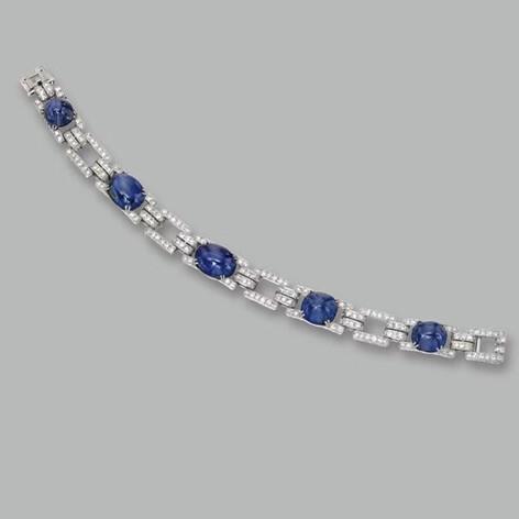 Round Sapphire Diamond Bracelet