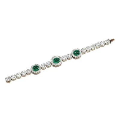 Emerald Droplets Cushion Bracelet