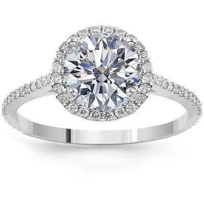 VS Diamond Halo Wedding Ring