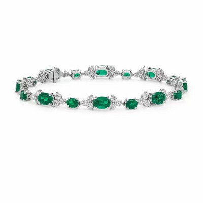 Emerald Bloom Bracelet