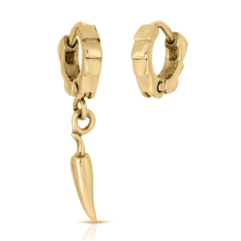 Gold Chili Pepper Cuff Earrings