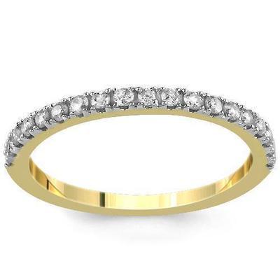 Diamond Gold Wedding Eternity Band