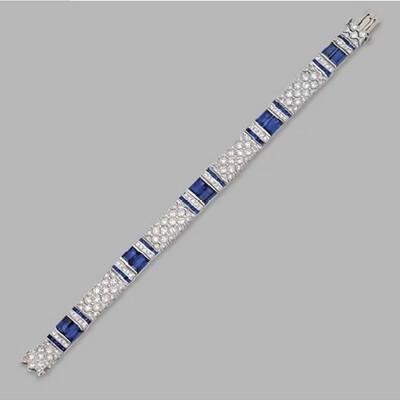 Sapphire Baguette Diamond Bracelet