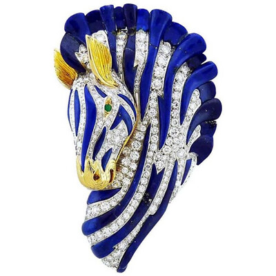Sapphire Zebra Pendant