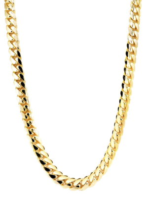 18K SOLID GOLD CUBAN CHAIN (4.5 MM)