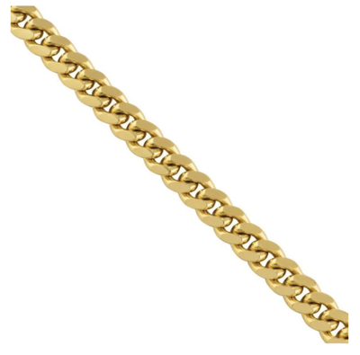 18K SOLID GOLD CUBAN CHAIN (4 MM)