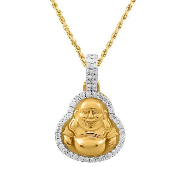 Gold Laughing Buddha Pendant
