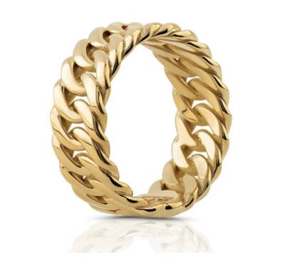 Gold Cuban Ring