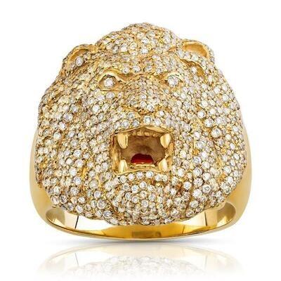 Majestic Diamond Lion Ring