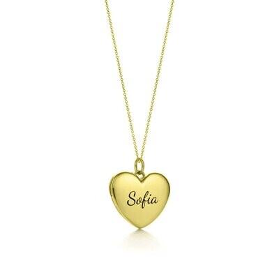 Engravable Heart Pendant
