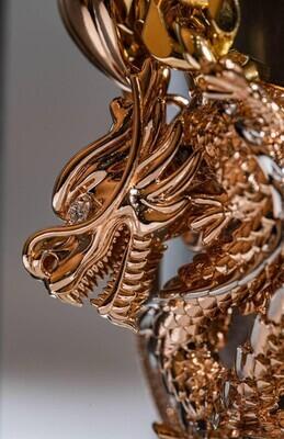 Solid Gold Dragon Pendant