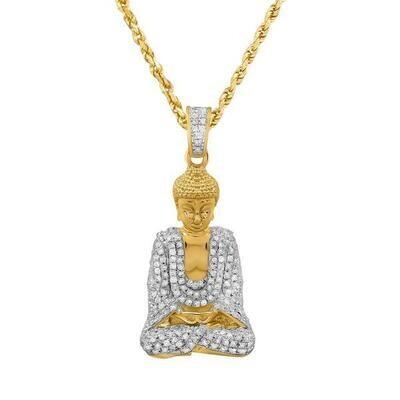 Gold Diamond Zen Buddha