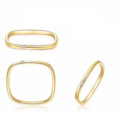 18K Solid Gold Cherish Ring (VS Diamond)