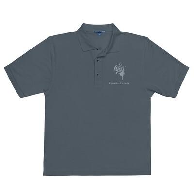 Fourth Estate®  Logo Premium Embroidered Polo