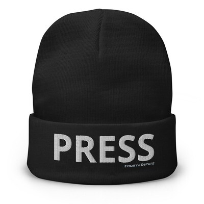 'PRESS' Embroidered Beanie