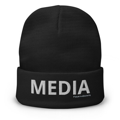 'MEDIA' Embroidered Beanie