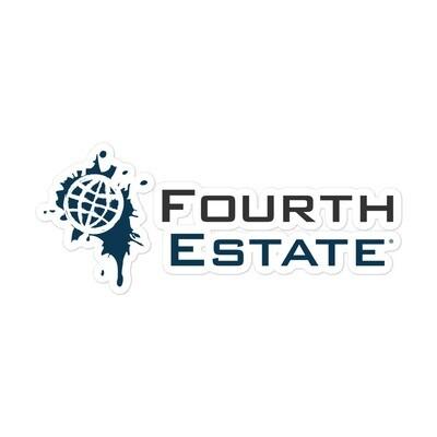 Fourth Estate®  Squared Logo Sticker