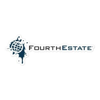 Fourth Estate®  Logo Horizonal Sticker