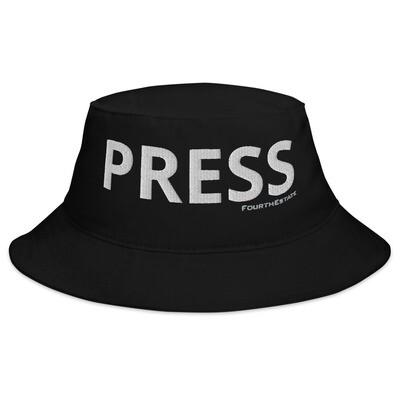 'PRESS' Bucket Hat