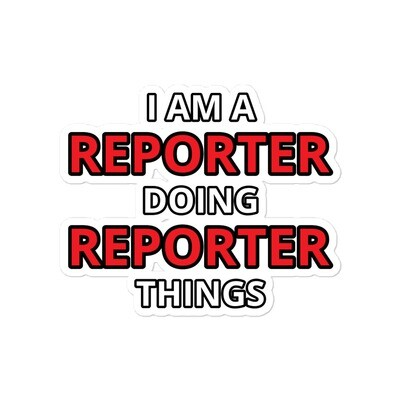 """'Doing Reporter Things"""" sticker"""
