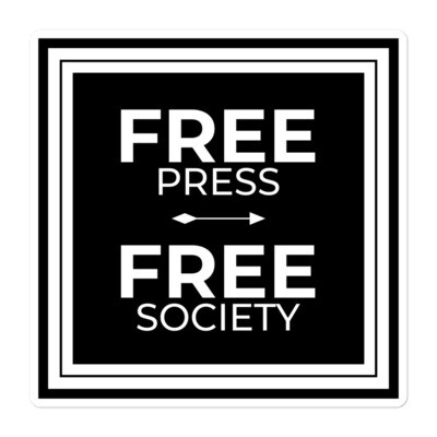 Free Press Free Society sticker