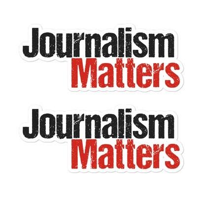 'Journalism Matters' stickers