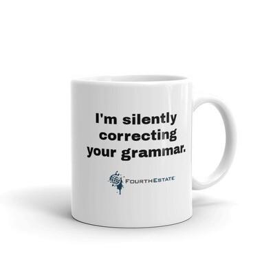 'Grammar' White Mug