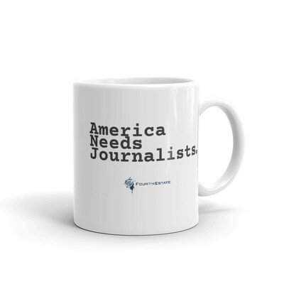 'America Needs Journalists' White Mug