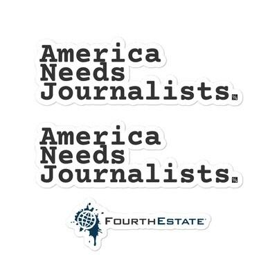 'America Needs Jounalists' stickers