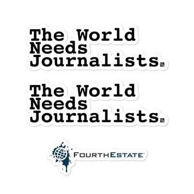 'The World Needs Journalists' Stickers