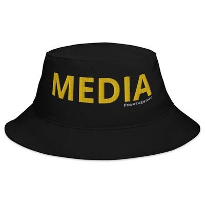 'MEDIA' Yellow Letter Bucket Hat
