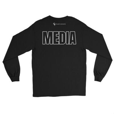 'MEDIA' Outline Letter Long Sleeve Shirt