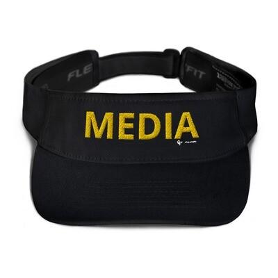 'MEDIA' Yelloy Letter Flexfit Visor