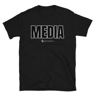 'MEDIA' Outline Letter Unisex T-Shirt