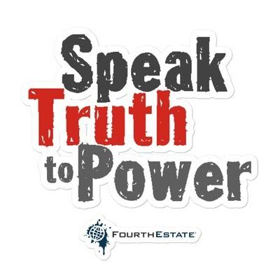 Speak Truth to Power Sticker