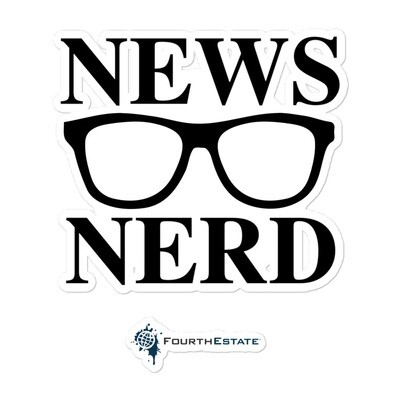 News Nerd Sticker