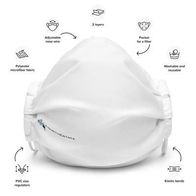Fourth Estate® Logo Reusable Premium Face Mask (white)