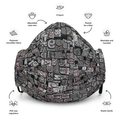 Letterpress Premium Face Mask