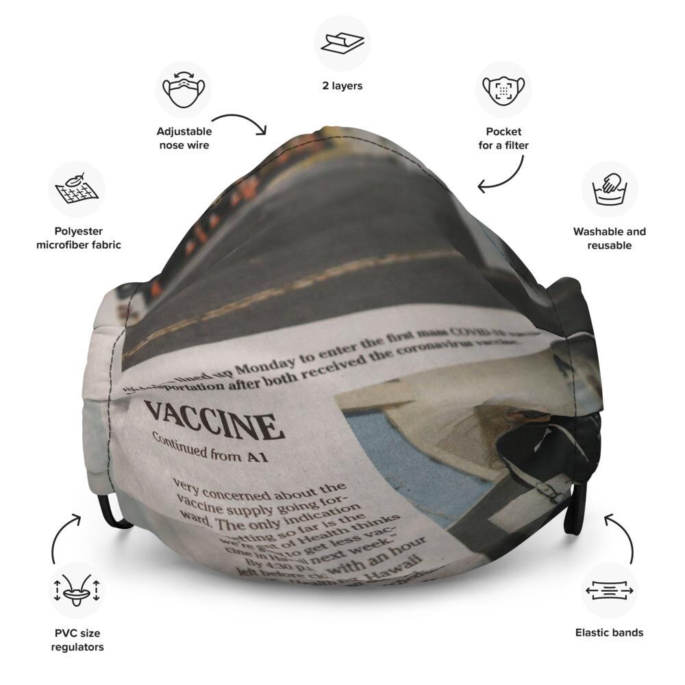 Newspaper Premium Face Mask